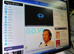 Trang mạng xã hội thí điểm của Việt Nam go.vn khai trương hôm 19 tháng 5 năm 2010. AFP photo
