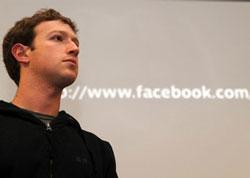 Mark Zuckerberg trong một cuộc họp báo tại trụ sở của Facebook ở Palo Alto, California vào ngày 26/05/2010. AFP PHOTO / GABRIEL BOUYS.
