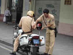 Ảnh minh họa cảnh sát giao thông VN. RFA photo