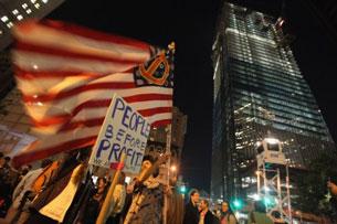 Phong trào Chiếm Phố Wall tại TP New York ngày 5 tháng 10 năm 2011. Mario Tama/Getty Images/AFP.