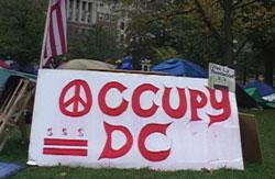 Phong trào Chiếm Phố Wall tại Washington DC ngày 12 tháng 10 năm 2011. RFA Photo.