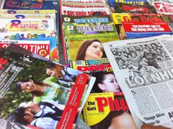 Báo chí chính thống trong nước. RFA photo