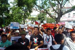 Biểu tình tại Hà Nội- 24 tháng 7
