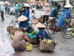 Một phiên chợ ở Lạng Sơn, ảnh chụp năm 2011. RFA PHOTO.