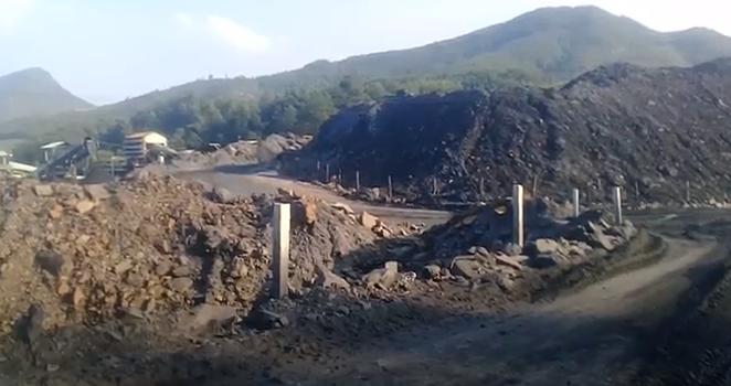 Bãi thải mỏ than Nông Sơn. RFA