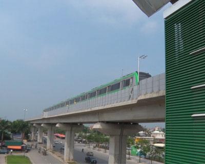 Tàu điện Cát Linh - Hà Đông chạy thử
