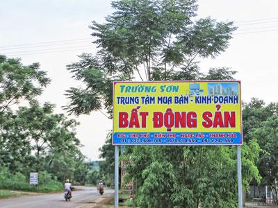 Mua bán đất ở Trường Sơn rất dễ