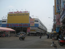 Chợ Thủ Dầu Một ở Bình Dương, ảnh chụp trước đây. RFA PHOTO.