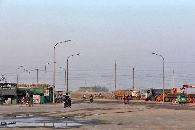 Đường vào công ty Formosa, khu công nghiệp Vũng Áng, Hà Tĩnh