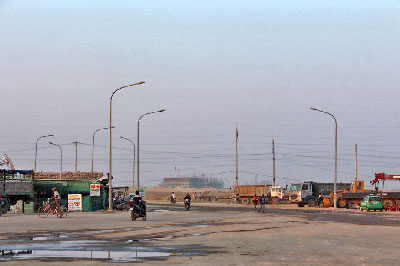 Đường vào công ty Formosa, khu công nghiệp Vũng Áng, Hà Tĩnh. RFA