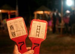 Thẻ bài chòi dành cho người chơi. RFA photo