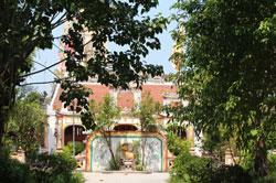 Bên trong Ngôi Võ Miếu tại phường Tân Giang, thành phố Hà Tĩnh. RFA PHOTO.
