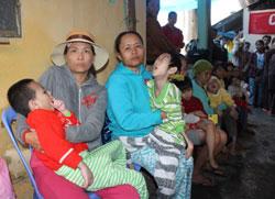 Những em bé hội viên Hội người mù Hương Vinh, Huế. RFA PHOTO.