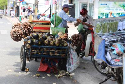 Một xe bán dạo ở Saigon. RFA photo