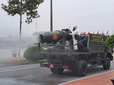 Hình minh hoạ. Xe đặc chủng tham gia cuộc diễn tập bảo vệ Đại hội Đảng 13 ở Hà Nội hôm 10/1/2021