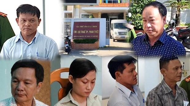 Hàng loạt lãnh đạo ngànhthuế và đất đai TP Phan Thiết bị truy tố