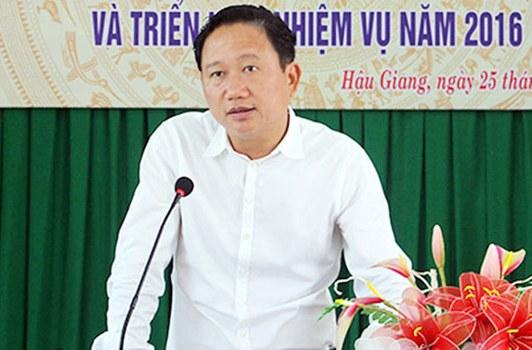 Ông Trịnh Xuân Thanh, nguyên Phó chủ tịch UBND tỉnh Hậu Giang.