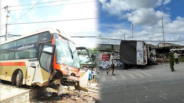 Tai nạn giao thông liên hoàn tại Đắk Lắk làm ít nhất sáu người thương vong