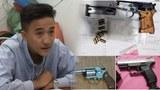 Thanh niên bị bắt về tội tàng trữ vũ khí quân dụng trái phép