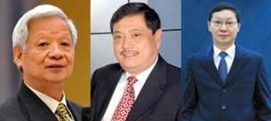 Từ trái ông Trần Xuân Gía, ông Lê Vũ Kỳ và ông Trịnh Kim Quang