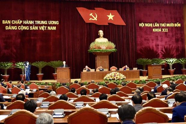 Ảnh miunh họa: toàn cảnh Hội nghị Trung ương lấn thứ 14 khóa 12 từ ngày 14-18/12/2020