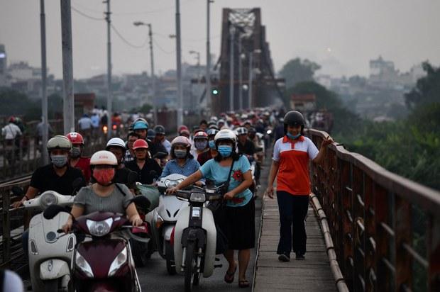 Ô nhiễm không khí tại nhiều tỉnh thành ở Việt Nam