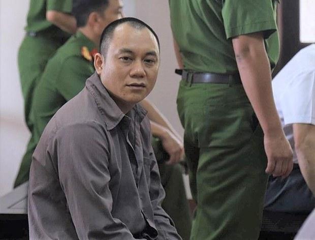 Bị cáo, tài xế xe container, Lê Ngọc Hoàng tại tòa.