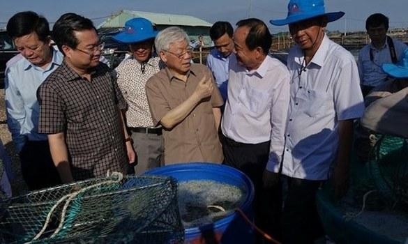 Tổng Bí thư kiêm Chủ tịch nước thăm Kiên Giang hôm 14/4/2019