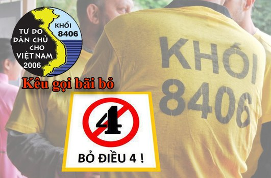 Khối 8406 kêu gọi bãi bỏ điều 4, Hiến pháp