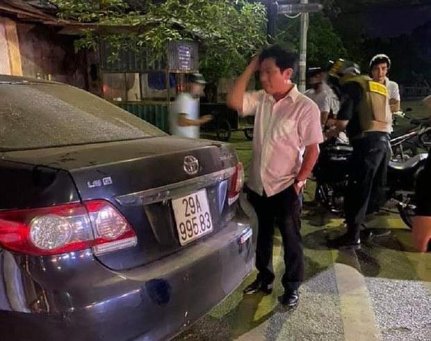 Xe ô tô liên quan đến vụ tai nạn giao thông vào đêm 8/5.