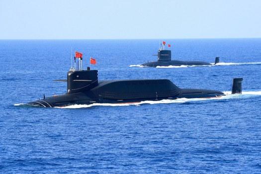 Hình minh hoạ. Tàu ngầm của Trung Quốc ở Biển Đông hôm 12/4/2018