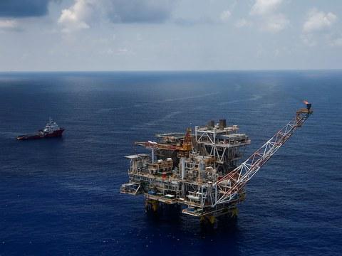 Hình minh hoạ. Mỏ Lan Tây của liên doanh Rosneft Vietnam ngoài khơi Vũng Tàu hôm 29/4/2018