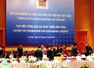 Phiên họp nhóm tư vấn các nhà tài trợ cho Việt Nam tại Hà Nội