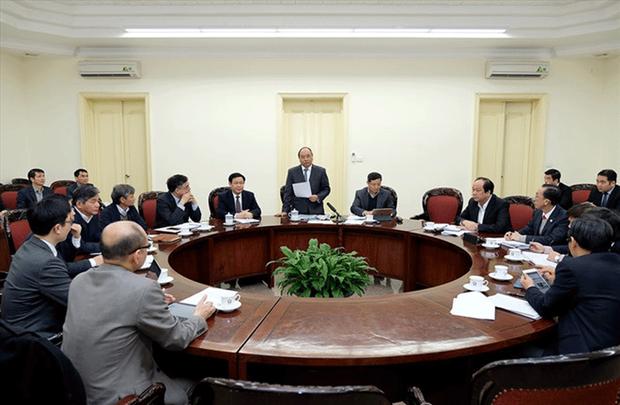 Một phiên họp của Tổ tư vấn với Thủ tướng