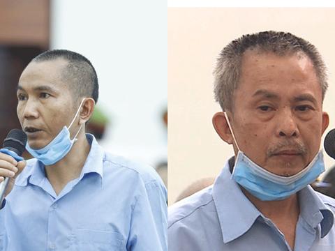 Hai ông Lê Đình Chức và Lê Đình Công tại phiên toà xét xử sơ thẩm ở Hà Nội vào tháng 9/2020