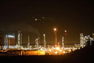 Khu vực nhà lọc dầu Dung Quất ở Quảng Ngãi về đêm.