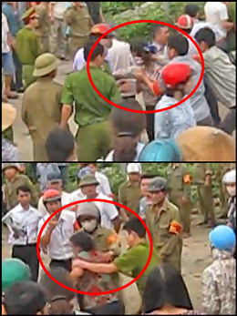 Đàn áp bắt bớ dân oan Dương Nội ngáy 22 tháng 4, 2014