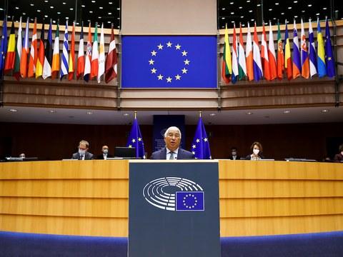 Hình minh hoạ. Một phiên họp ở Nghị viện Châu Âu hôm 20/1/2021