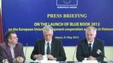 Đại sứ - Trưởng phái đoàn EU tại Việt Nam Franz Jessen tại buổi công bố Sách Xanh 2012.