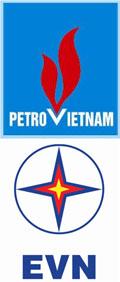 Logo Tập đoàn Dầu khí (Petro Vietnam)  và Tập đoàn Điện lực Việt Nam (EVN)