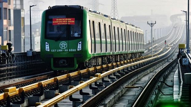 Dự án đường sắt đô thị Cát Linh - Hà Đông ở Hà Nội, ảnh chụp hôm 20/9/2018. (Ảnh minh họa)