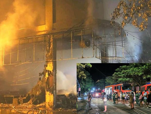 Cháy phòng trà ở Thành phố Vinh khiến sáu người thiệt mạng