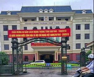 Trụ sở UBND Thành phố Thái Bình, nơi xây ra vụ bắn bốn cán bộ