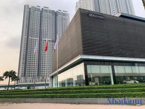 """Công ty Cổ phần Lexus Thăng Long đang thuê khu """"đất vàng"""" 8000m2 góc đường Phạm Hùng-Dương Đình Nghệ, Hà Nội làm showroom ô tô."""