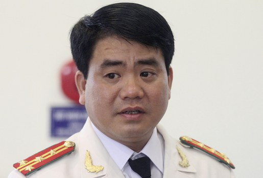 Hình minh hoạ. Ông Nguyễn Đức Chung khi còn làm Giám đốc Công an Hà Nội hôm 20/5/2013
