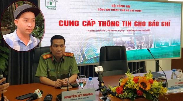 Đại tá Nguyễn Sỹ Quang tại buổi họp báo về vụ Tuấn 'khỉ'
