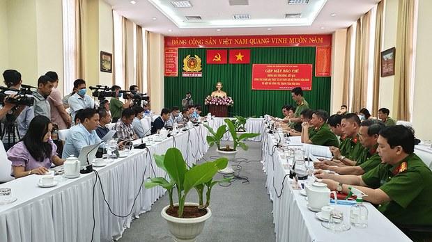 Công an TP.HCM họp báo về vụ bắt ông Tất Thành Cang