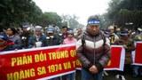 Hình minh hoạ. Người dân biểu tình nhân kỷ niệm Hải chiến Hoàng Sa hôm 19/1/2017 ở Hà Nội
