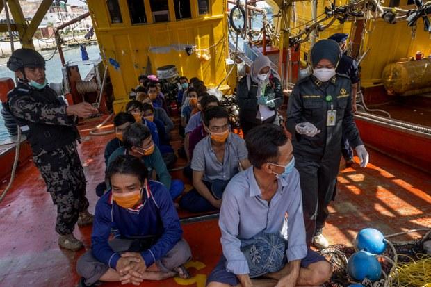 Các ngư dân Việt Nam bị bắt giữ tại Indonesia