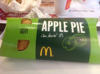 Món Apple Pie tại tiệm McDonald ở Sài Gòn. RFA photo